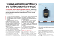 Housing Associations, Installers and hard water: trick or treat?